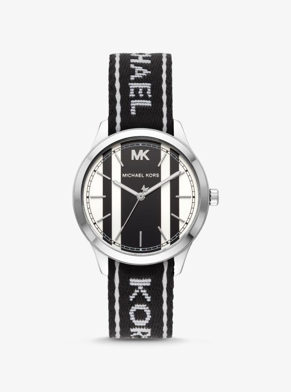 Michael Kors - Runway Silver-Tone And Logo Tape Watch - 1