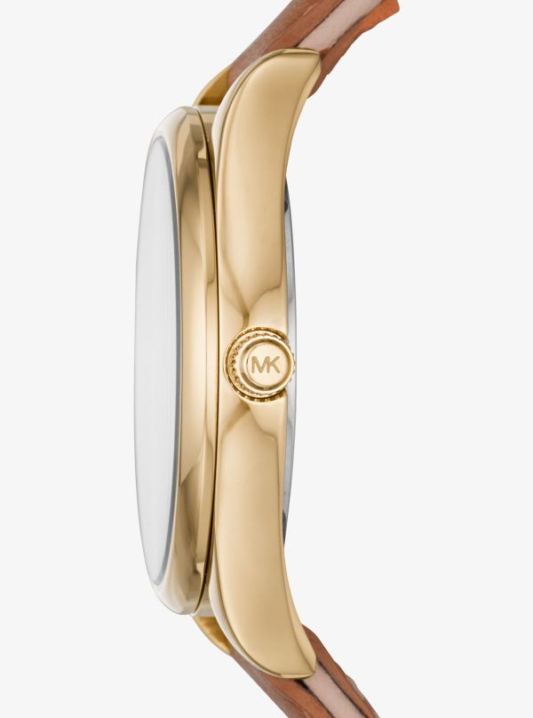 Michael Kors - Colette Gold-Tone And Leather Watch - 2