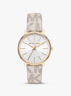 마이클 코어스 골드톤 손목시계 - 바닐라 Michael Kors Pyper Logo and Gold-Tone Watch,VANILLA