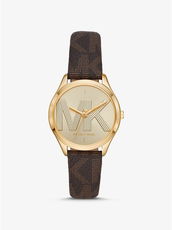 Jaycie Logo and Gold-Tone Watch | Michael Kors