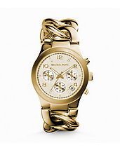 Runway Twist Gold-Tone Stainless Steel Watch