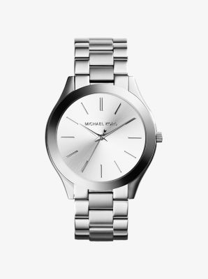 마이클 코어스 메탈 시계 Michael Kors Slim Runway Silver-Tone Watch,SILVER