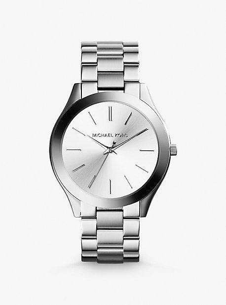 Slim Runway Silver-Tone Watch