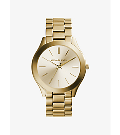 Slim Runway Gold-Tone Stainless Steel Watch by Michael Kors