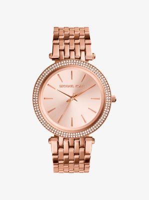 Darci Pavé Rose Gold-Tone Watch by Michael Kors