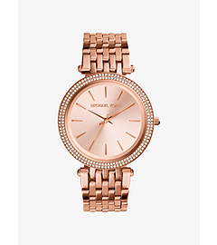 Darci Pavé-Embellished Rose Gold-Tone Stainless Steel Watch