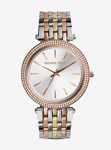 Darci Pavé Two-Tone Watch by Michael Kors