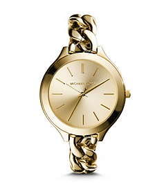 Slim Runway Gold-Tone Stainless Steel Chain-Link Watch