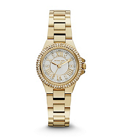 Petite Camille Embellished Gold-Tone Stainless Steel Watch