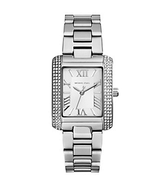 Mini Emery Pavé-Embellished Stainless Steel Watch