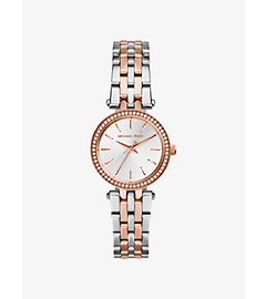 Petite Darci Silver and Rose Gold-Tone Stainless Steel Watch