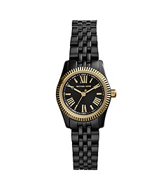 Petite Lexington Black and Gold-Tone Stainless Steel Watch