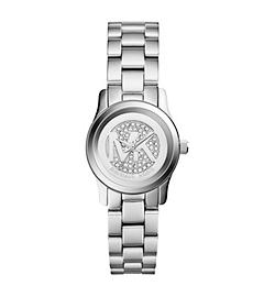 Petite Runway Pavé Silver-Tone Watch by Michael Kors
