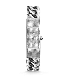 Hayden Pavé-Embellished Chain-Link Watch