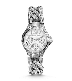 Mini Camille Pavé-Embellished Stainless Steel Watch