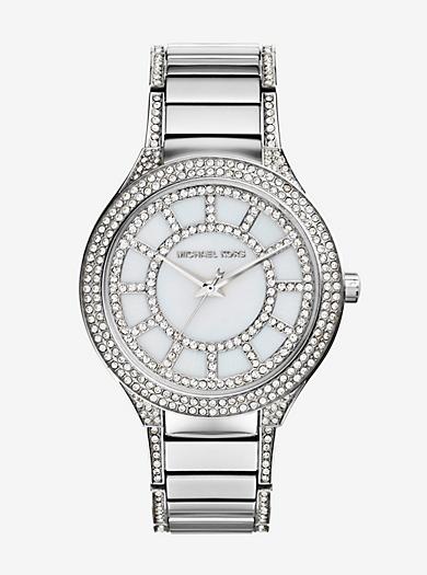 Kerry Pavé Silver-Tone Watch by Michael Kors