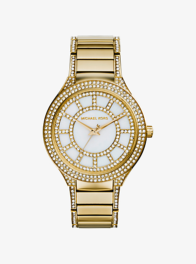 Kerry Pavé-Embellished Gold-Tone Watch by Michael Kors