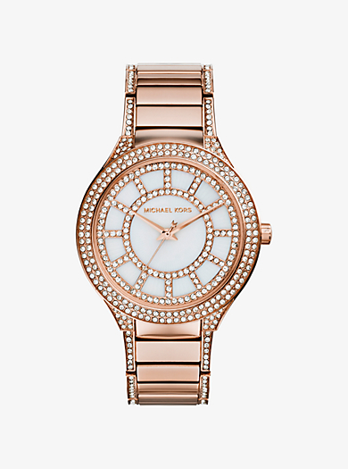 Kerry Pavé Rose Gold-Tone Watch by Michael Kors