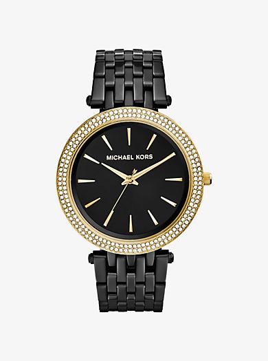 Darci Pavé Black-Tone Watch by Michael Kors