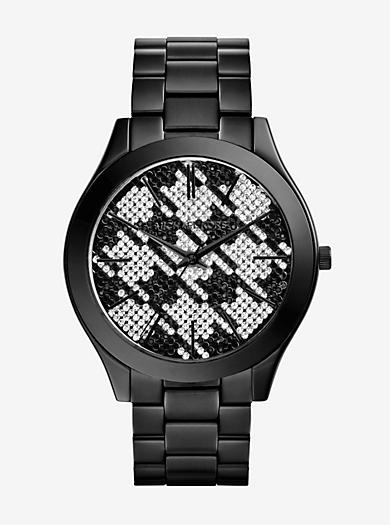 Runway Black Houndstooth Watch by Michael Kors