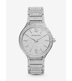Kerry Pavé-Embellished Silver-Tone Stainless Steel Watch
