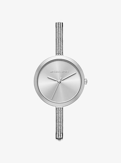 Blakely Pavé Silver-Tone Watch by Michael Kors