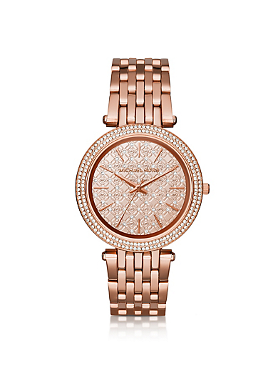 Darci Pavé Rose Gold-Tone Watch by Michael Kors