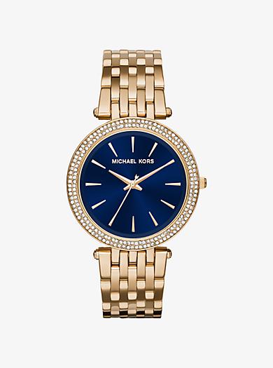 Darci Pavé Gold-Tone Watch by Michael Kors