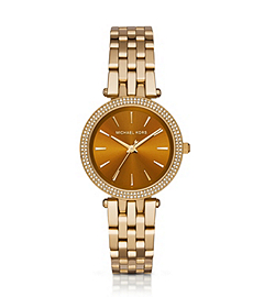 Darci Gold-Tone and Amber Watch by Michael Kors