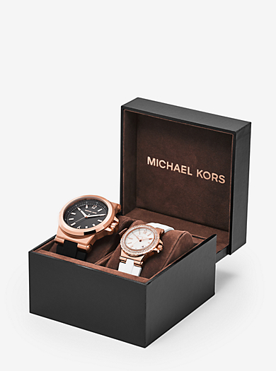 Dylan Rose Gold-Tone and Silicone Watch Gift Set  by Michael Kors