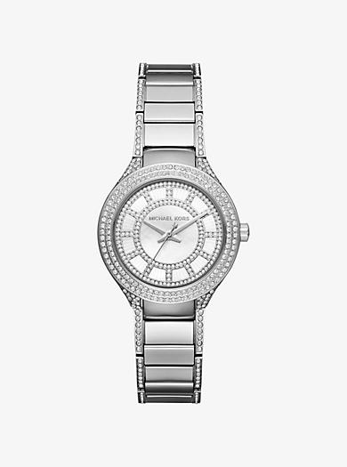 Kerry Mini Pavé Silver-Tone Watch by Michael Kors