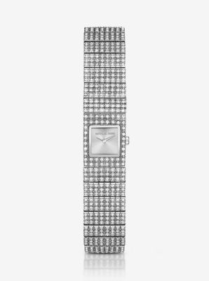 Cocktail Silver-Tone Watch by Michael Kors