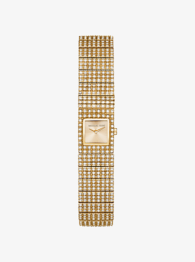 Cocktail Gold-Tone Watch by Michael Kors