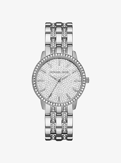 Nini Pavé Silver-Tone Watch by Michael Kors