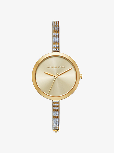 Blakely Pavé Gold-Tone Watch by Michael Kors