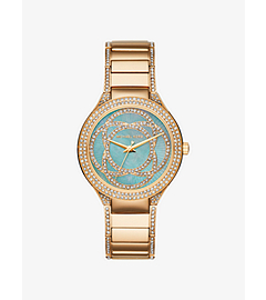 Kerry Mother-of-Pearl and Gold-Tone Watch by Michael Kors