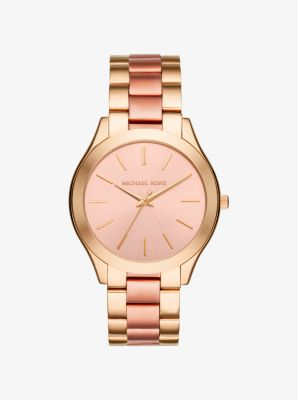 Slim Runway Two-Tone Watch by Michael Kors