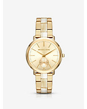Jaryn Gold-Tone and Acetate Watch