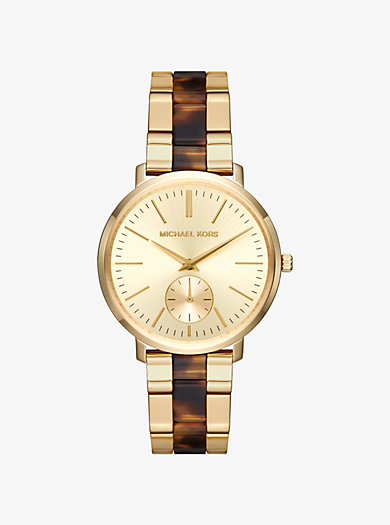 Jaryn Gold-Tone and Acetate Watch by Michael Kors