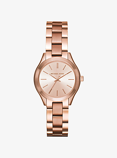 Mini Slim Runway Rose Gold-Tone Watch by Michael Kors