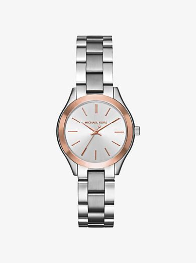 Mini Slim Runway Two-Tone Watch by Michael Kors
