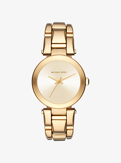 Delray Gold-Tone Watch by Michael Kors