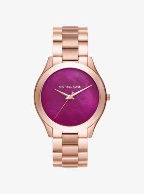 Slim Runway Rose Gold-Tone Watch by Michael Kors