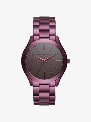 Slim Runway Plum-Tone Watch by Michael Kors