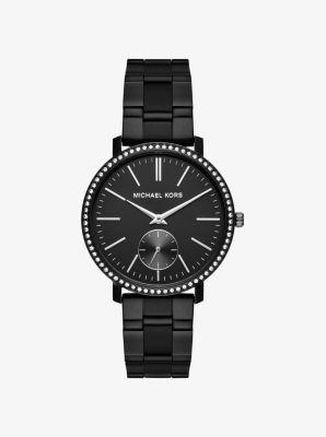 Jaryn Black-Tone IP Watch by Michael Kors