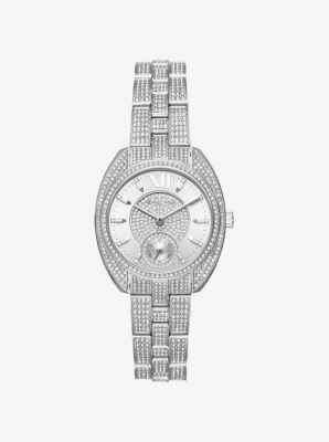 Dena Pavé Silver-Tone Watch by Michael Kors