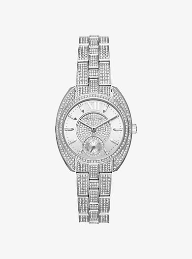 Dena Pavé Silver-Tone Watch by Michael Kors