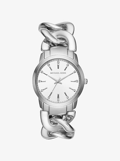 Elena Silver-Tone Watch by Michael Kors