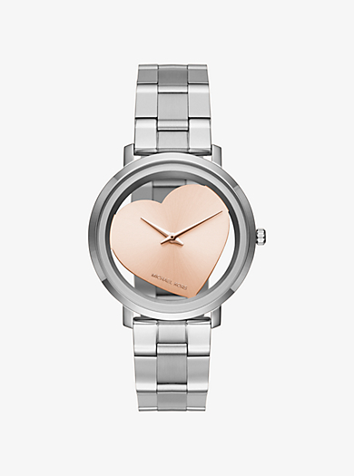 Jaryn Silver-Tone Heart Watch by Michael Kors