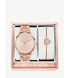 Jaryn Rose Gold-Tone Watch and Bracelet Set